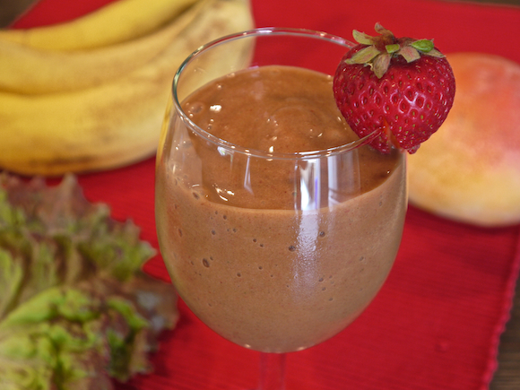 Strawberry Banana Mango                                         Green Smoothie