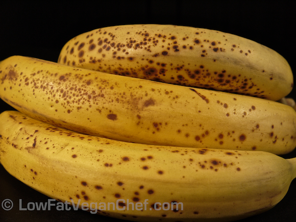 Low Fat Vegan Chef's Ripe Spotted Bananas