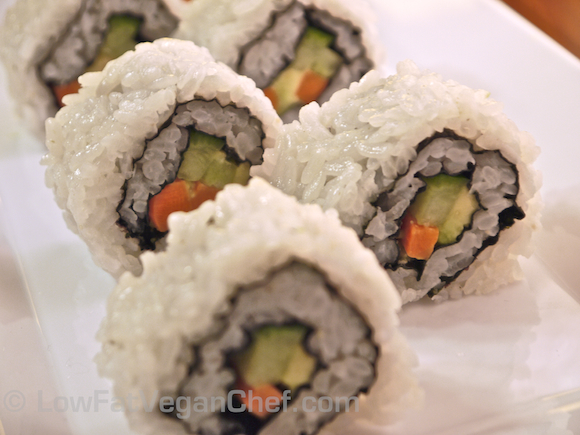 How To Make A Vegan California Sushi Roll With Avocado Carrots Cucumber Inside Out Uramaki Roll