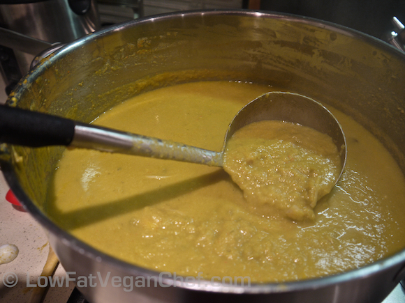 How To Make Dr. Joel Fuhrman's Eat To Live Anti Cancer Split Pea Mushroom Soup Blended