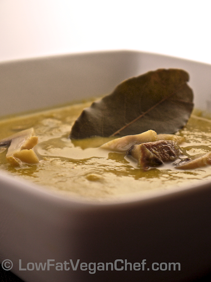 How To Make Dr. Joel Fuhrman's Eat To Live Anti Cancer Split Pea Mushroom Soup