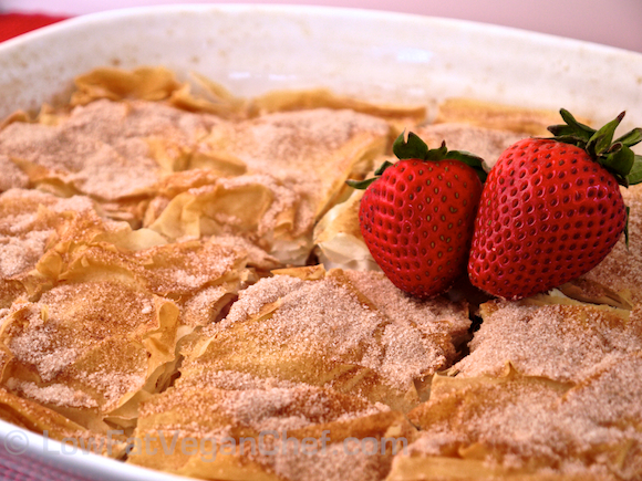Low Fat Vegan Chef's Apple Strawberry Strudel
