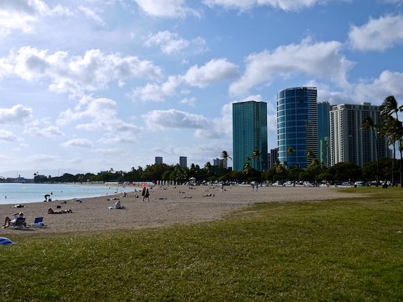 Honolulu Oahu Hawaii Ala Moana Beach Park