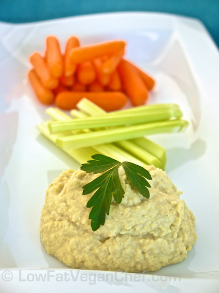 Oil Free Low Fat Chickpea Hummus