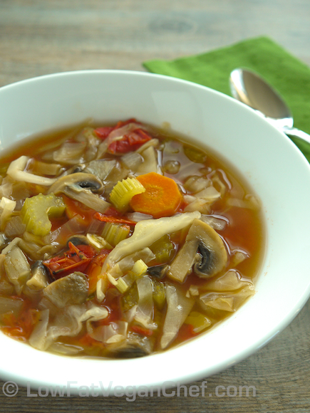 Fat Free Vegan Low Calorie Cabbage Soup Diet Recipe