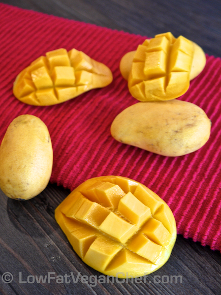 Low Fat Vegan Chef Ripe Mini Ataulfo Champagne Mangoes