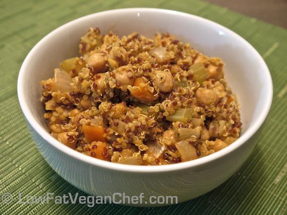Vegan Quinoa Chickpea Pilaff