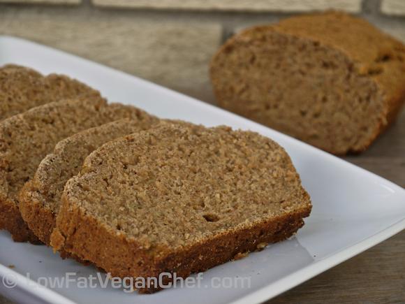 Fat Free Whole Wheat Vegan Banana Bread