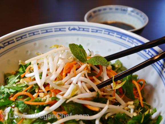 Bun Chay (Vegetarian Vietnamese Vermicelli Herb Noodle Salad)
