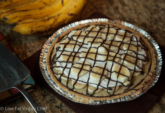 Vegan Chocolate Banana Cream Pie