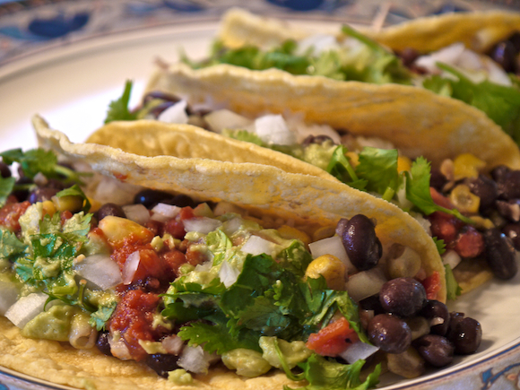 Vegan Black Bean And Corn Tacos Low Fat Vegan Chef