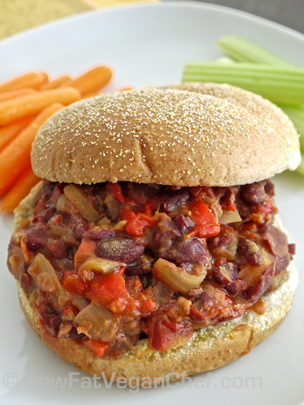 Low Fat Vegan Chef's Meatless Slow Cooker Sloppy Joes (1)