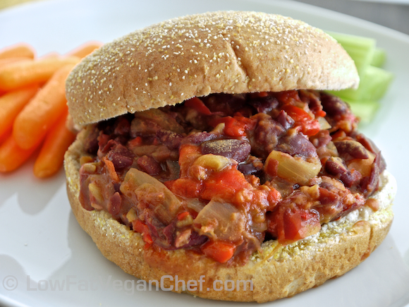 Low Fat Vegan Chef's Meatless Slow Cooker Sloppy Joes (2)