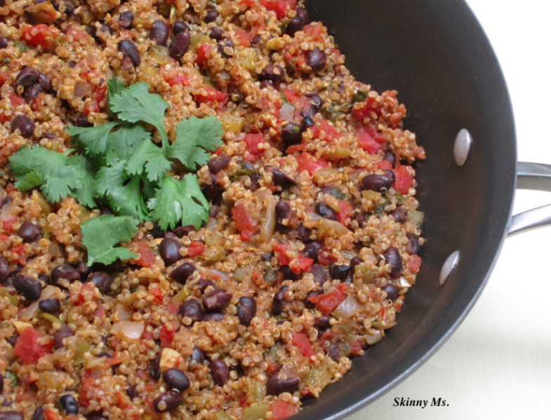 Quinoa with Black Beans - SkinnyMs.com