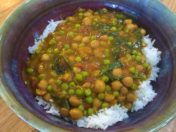 Slow Cooker Recipe: Lower Fat Plant-Based Butternut Squash and Chickpea Coconut Curry
